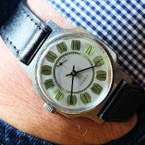 Octagonal Gray Wristwatch Très bon Acier 35mm Remontage manuel
