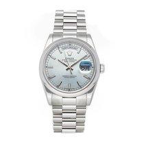 Rolex Day-Date 36 Platinum 36mm Blue No numerals United States of America, Pennsylvania, Bala Cynwyd