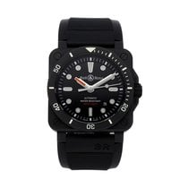 Bell & Ross Ceramic Automatic Black No numerals 42mm pre-owned BR 03-92 Ceramic