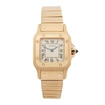 Cartier Santos Galbée Yellow gold 24mm Silver Roman numerals United States of America, New York, Greenvale