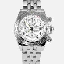 Breitling Chronomat Evolution Stahl 44mm Weiß Arabisch