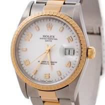 Rolex Oyster Perpetual Date Aur/Otel 34mm Alb Arabic România, Bucharest