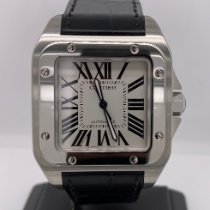 Cartier Santos 100 Steel 38mm White Roman numerals United States of America, New York, Plainview