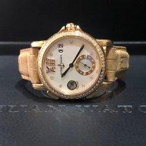 Ulysse Nardin Dual Time Růžové zlato 37mm Perleťová Bez čísel