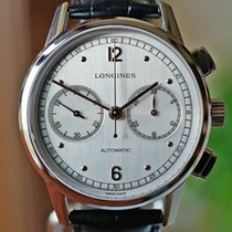 Longines Heritage pre-owned Silver Chronograph Buckle