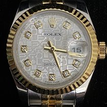 Rolex Lady-Datejust Or/Acier 26mm Argent