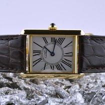 Cartier Tank Vermeil Argent 23mm Blanc Romain
