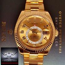 Rolex Sky-Dweller Or jaune 42mm Champagne