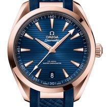 Omega Rose gold Automatic Blue 41mm new Seamaster Aqua Terra