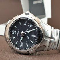 Seiko Kinetic Steel 37mm Black No numerals