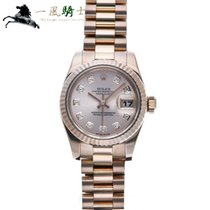 Rolex Rose gold Automatic Pink 26mm pre-owned Lady-Datejust