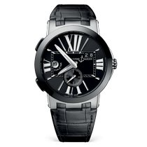 Ulysse Nardin Executive Dual Time Steel 43mm Black Roman numerals United States of America, New Jersey, Princeton