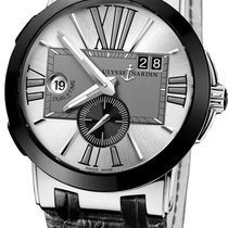 Ulysse Nardin Executive Dual Time Steel 43mm Silver Roman numerals United States of America, New Jersey, Princeton
