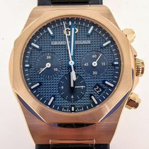 Girard Perregaux Rose gold Automatic Blue 38mm new Laureato