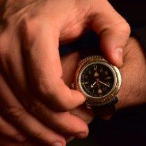 Vostok Steel 35mm Manual winding Black Russian 90s Wristwatch pre-owned