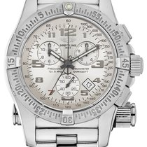 Breitling Emergency Steel 45mm Silver Arabic numerals United States of America, New York, New York
