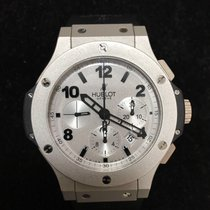 Hublot Platinum Automatic Silver pre-owned Big Bang 44 mm