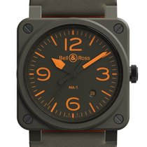Bell & Ross BR 03-92 Ceramic Ceramic 42mm Green Arabic numerals United States of America, New Jersey, Princeton