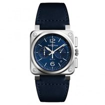 Bell & Ross BR 03-94 Chronographe Steel 42mm Blue Arabic numerals United States of America, New Jersey, Princeton