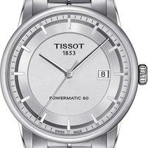 Tissot Luxury Automatic Stahl 42mm Silber Keine Ziffern