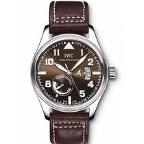 IWC White gold Automatic Brown 44mm new Pilot