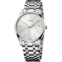 ck Calvin Klein Steel 36mm Quartz K4N23146 new