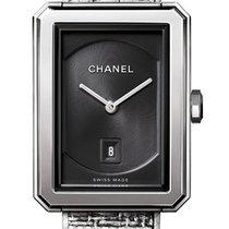 Chanel Boy-Friend Acier 34.6mm Noir Sans chiffres