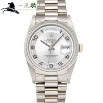 Rolex Day-Date 36 Or blanc 36mm Gris