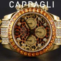 Rolex Daytona Yellow gold 40mm Orange No numerals