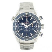 Omega Seamaster Planet Ocean Chronograph Titane Bleu
