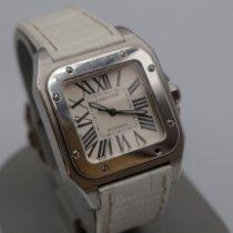 Cartier Santos 100 Acero 33.5mm Blanco Romanos México, Los Mochis