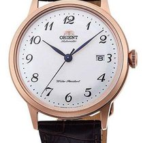 Orient Rose gold Silver 40.5mm new Bambino