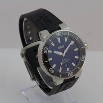 Oris Aquis Date pre-owned 43.5mm Blue Date Steel