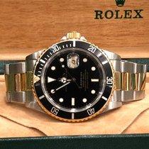 Rolex Submariner Date Goud/Staal 40mm Blauw Geen cijfers