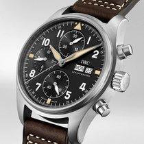IWC Pilot Spitfire Chronograph Acier 41mm Noir Arabes