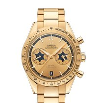 Omega Yellow gold Automatic Gold No numerals 41.5mm new Speedmaster '57