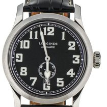 Longines Heritage Steel 44mm Black United States of America, Illinois, BUFFALO GROVE