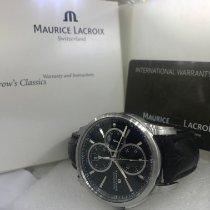Maurice Lacroix Pontos Chronographe Steel 42mm Black No numerals