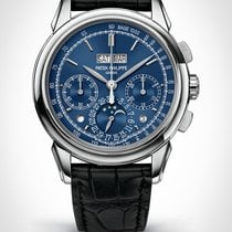 Patek Philippe Perpetual Calendar Chronograph White gold 41mm Blue No numerals United States of America, New York, New York