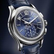 Patek Philippe Annual Calendar Chronograph Platino 42mm Azul Sin cifras