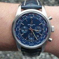 Breitling Transocean Unitime Pilot Steel 46mm Blue No numerals United States of America, Connecticut, Suffield