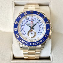 Rolex Yacht-Master II Gelbgold 44mm Weiß Keine Ziffern