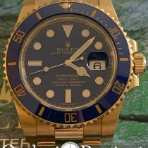 Rolex Submariner Date Oro amarillo 40mm Azul Sin cifras