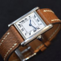 Cartier White gold Manual winding White Roman numerals 21mm pre-owned Tank Louis Cartier