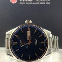 TAG Heuer Carrera Calibre 5 tweedehands 41mm Blauw Datum Dagaanduiding Staal