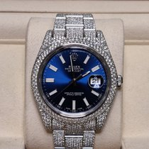Rolex Staal Automatisch Blauw Geen cijfers 41mm nieuw Datejust II