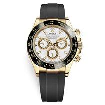 Rolex Daytona Желтое золото 40mm Белый Без цифр