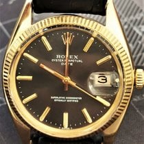 Rolex Oyster Perpetual Date Oro amarillo 34mm Negro Sin cifras