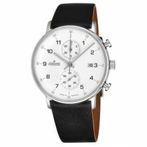 Junghans FORM C Steel 40mm Silver Arabic numerals