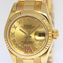 Rolex Lady-Datejust Oro amarillo 26mm Champán Romanos